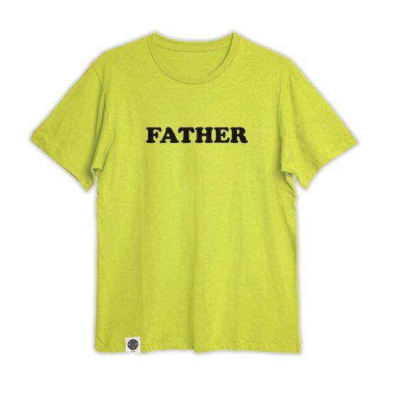 טי גברים FATHER | צהוב