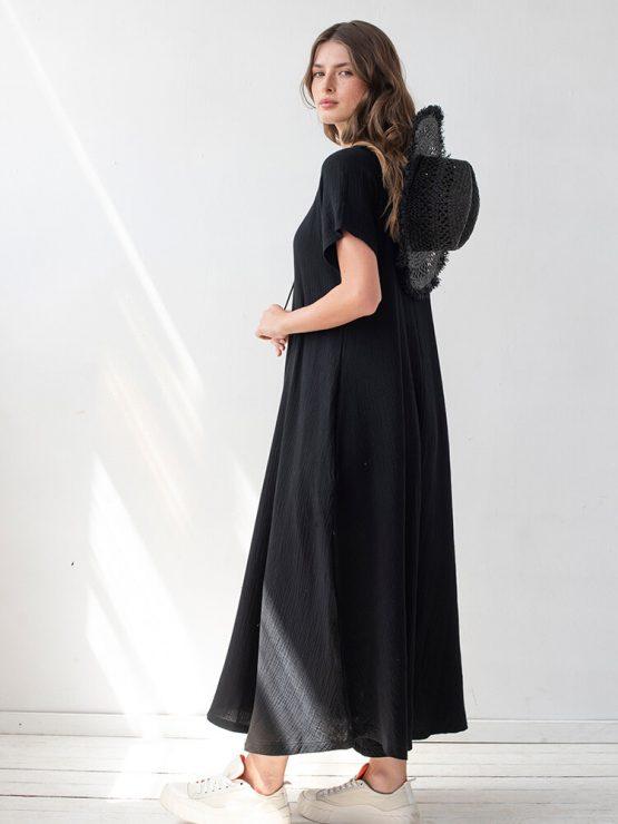 שמלת מקסי טטרה | שחור