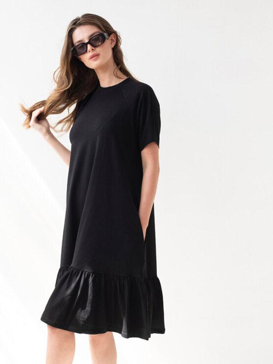 שמלת נף-נף מידי | שחור