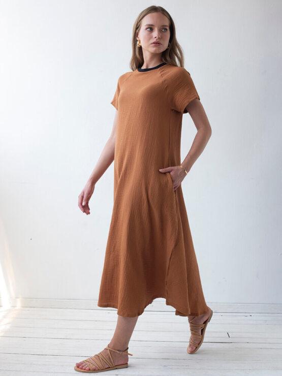 שמלת מקסי טטרה | בריק