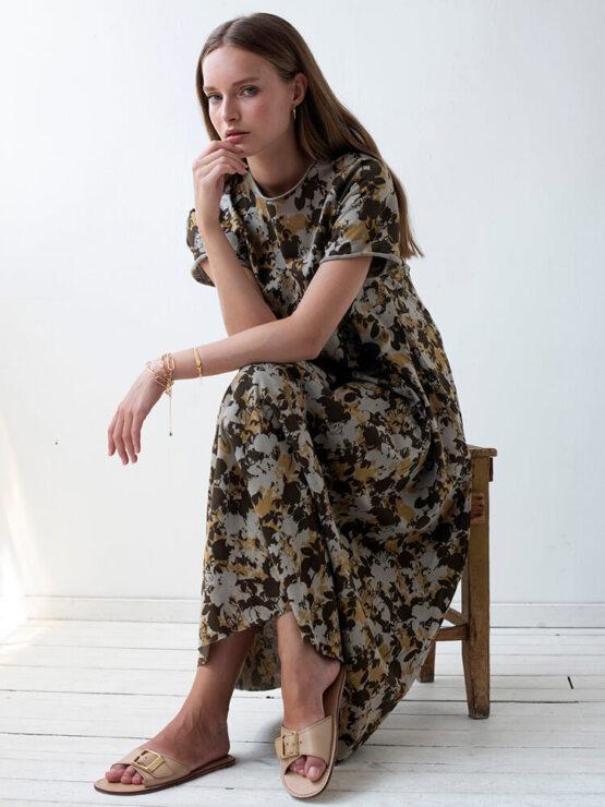 שמלת סווינג שלכת