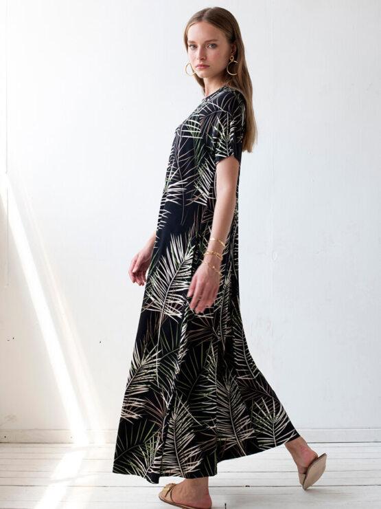 שמלת סווינג ניו במבוק | שחור