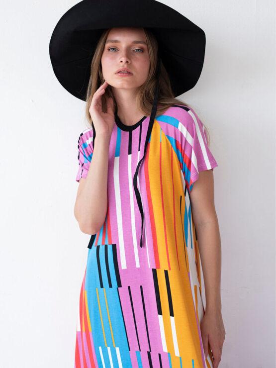 שמלת מקסי אלקטרו