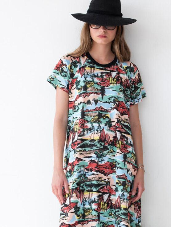 שמלת מקסי אינדיאן סאמר