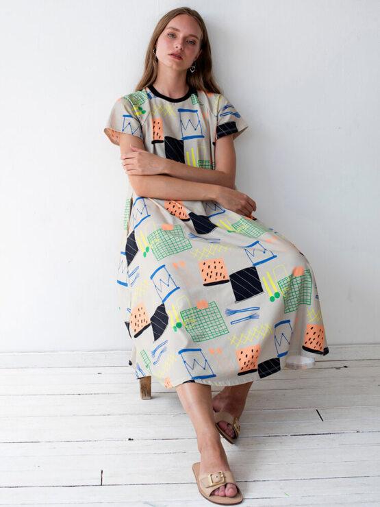 שמלת מקסי פרקשן