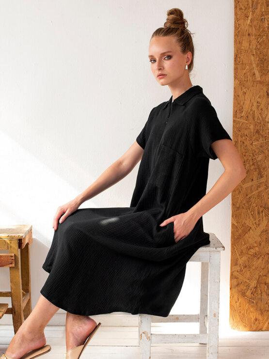שמלת כיס טטרה | שחור