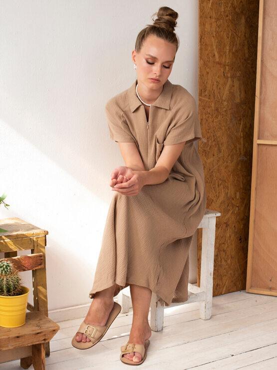 שמלת כיס טטרה | קאמל